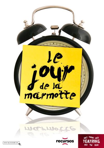 LE JOUR DE LA MARMOTTE de bricAbrac Teatro- teatro en francés