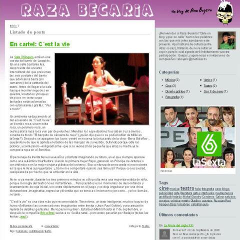 Crítica de C'EST LA VIE de bricAbrac Teatro en RAZA BECARIA – Blog de LA SEXTA.ES