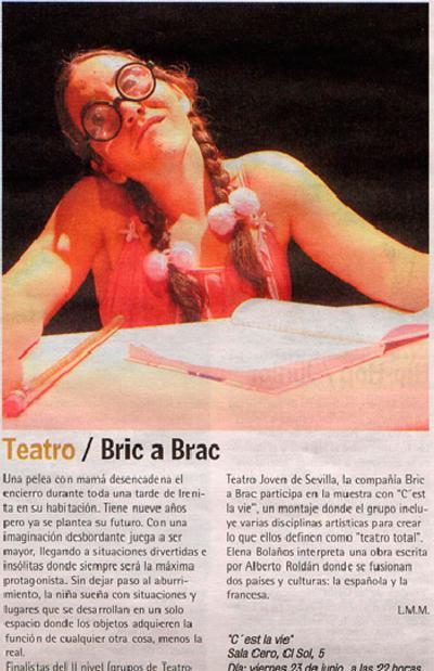 Crítica de C'EST LA VIE de bricAbrac Teatro en URBANA7