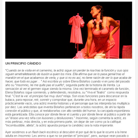 Crítica en MASTEATRO de C'EST LA VIE de bricAbrac Teatro