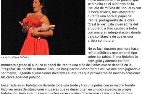 Crítica de C'EST LA VIE de bricAbrac Teatro en TELEPRENSA