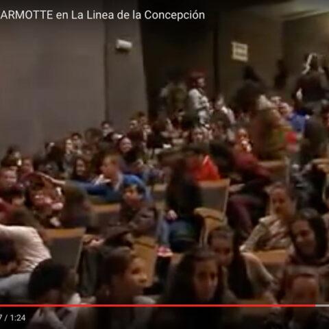 Entrevista de Elena Bolaños con Le Jour de la Marmotte de la compañía bricAbrac Teatro en el Teatro Palacio de Congresos y Exposiciones - Noticias TV de La Línea de la Concepción (Cádiz).