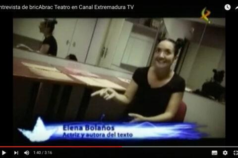 Entrevista en La Isla de Viernes de Canal Extremadura TV de MUNDO POUBELLE de bricAbrac Teatro