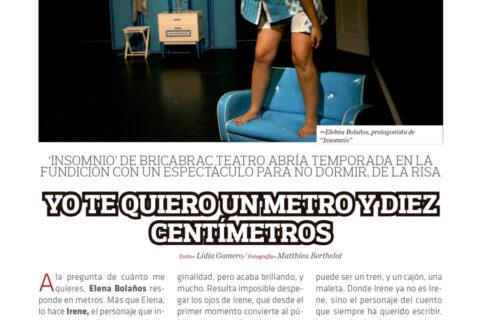 Crítica de INSOMNIO, Ne me Quitte pas el Sueño en la revista LATEATRAL