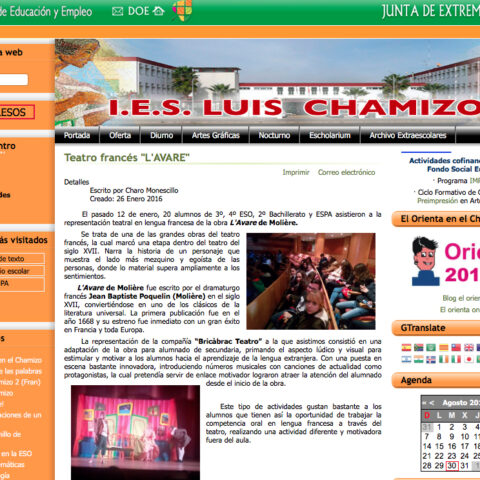 Crítica de L'AVARE de bricAbrac Teatro de IES LUIS CHAMIZO