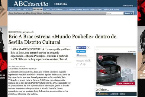 Crítica en ABC Sevilla de Mundo Poubelle de bricAbrac Teatro
