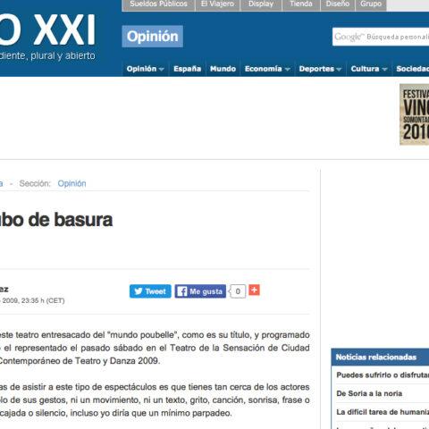 Crítica MUNDO POUBELLE de bricAbrac Teatro en el Diario Siglo XXI