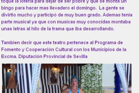 Crítica Er SHOW de la Bienve de bricAbrac Teatro en Noticias Aguadulce