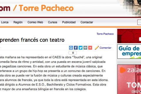 Crítica de TOUCHÉ en MURCIA.COM - teatro en francés