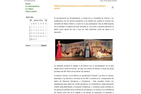 Crítica de TOUCHÉ de bricAbrac Teatro en TORREPACHECO.ES - teatro en francés