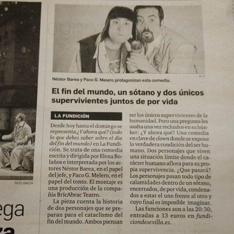 Y ahora qué de bricAbrac Teatro en el Diario de Sevilla