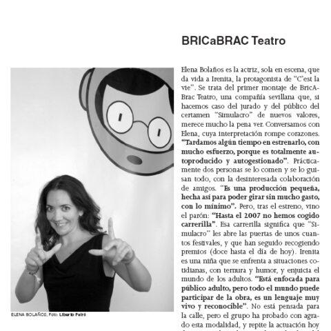 Crítica de C'EST LA VIE de bricAbrac Teatro en FIBER, la revista del Festival Internacional de Bénicassim
