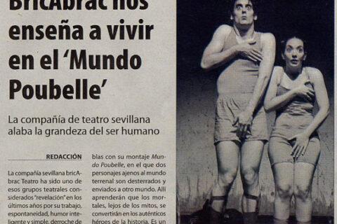 Crítica en El Dia de Ciudad Real de MUNDO POUBELLE de bricAbrac Teatro
