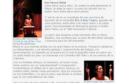 Crítica de C'EST LA VIE de bricAbrac Teatro en Tribuna Latina