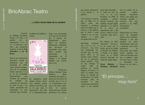 Crítica en la revista LA CENITAL de C'EST LA VIE de bricAbrac Teatro